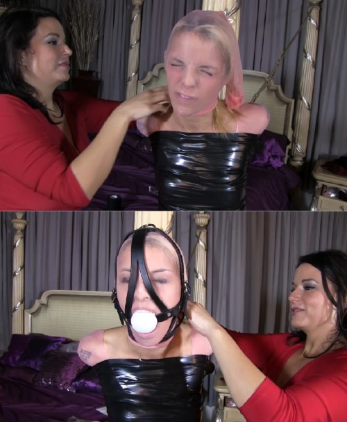 Super bondage, domination and mummification for young model