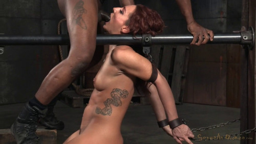Redhead Savannah Fox Chained To A Sybian BDSM