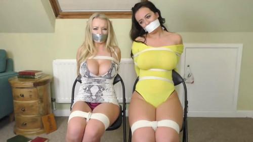 Super restraint bondage and predicament for 2 sexy harlots part 1