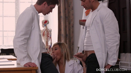 lola reve gets shagged by two men Threesome