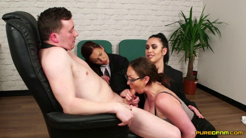 Office Spanking Oral Sex