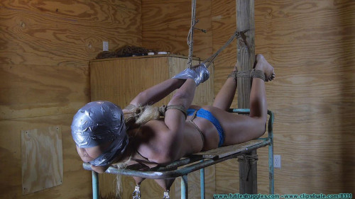 Amanda Foxx Crotchroped, clamped, Tape Hood