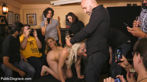 Eager Blonde Nympho Needs All Her Holes Publicly Pounded BDSM