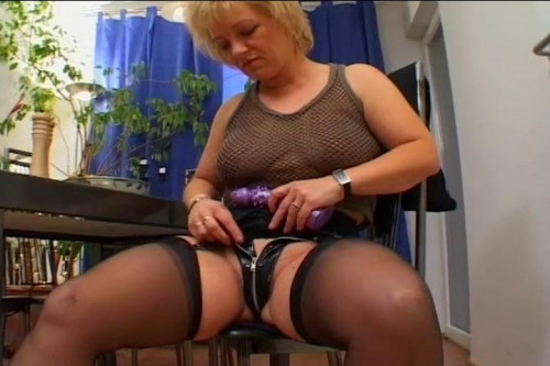Mature woman fucks her man