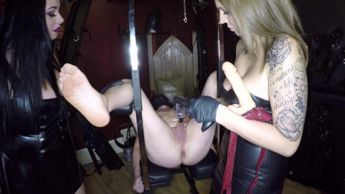 double domination in dungeon full hd Femdom and Strapon