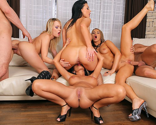 The Guy Decides To Surprise His Friends With An Amazing Hot Orgy