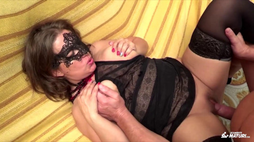 Naughty Italian swinger sex with masked mature newbie Fabiola Amateur Porn