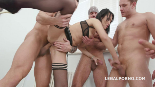 Wet Gangbang with Angie Moon & Ass Prolapse