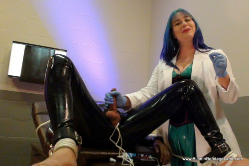 Kinky Latex Prostate Exam - Electric Cbt Milking with Doctor Alice