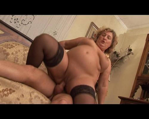 Horny fatty gets a cock