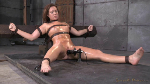 Maddy O'Reilly gets restrained and throatboarded brutal challenging deepthroat! (2014)