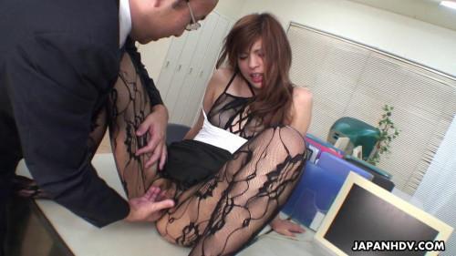Rina kikukawa drilled so hard by her lewd boss