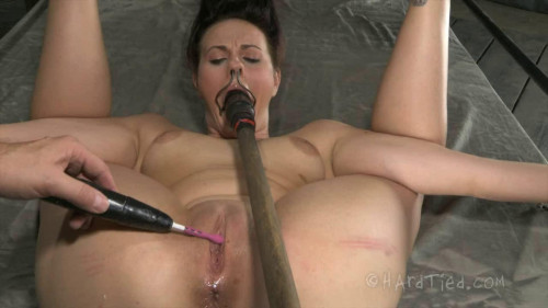 Hard tying, hog tie and spanking for in natures garb slut