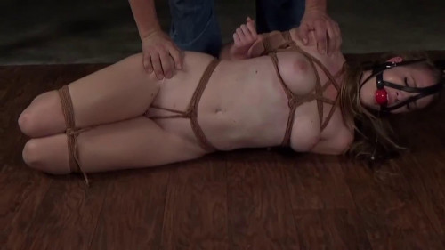 Constricted tying, spanking and wrist and ankle bondage for hot in natures garb golden-haired HD 1080p