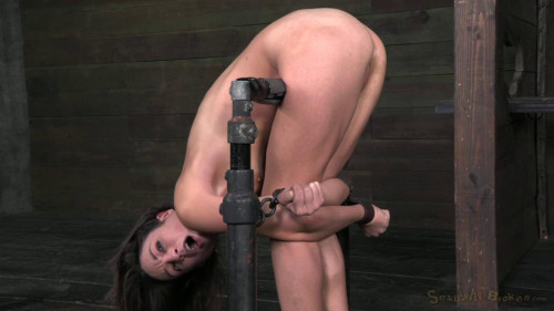 Half and Restrained In Strict Metal Bondage! - Amber Rayne - HD 720p