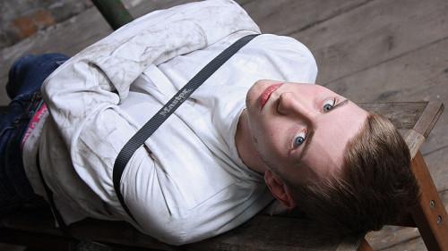 Restrained In Strait Jacket Gay BDSM