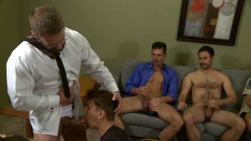 Anal party with seven men Gay Movie