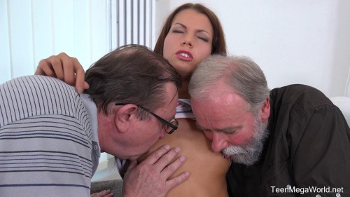 Riana G - Cutie gets old sandwich for help (2018) Old and Young