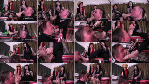 Goddess Lilith and Maya Sinstress - Treasure between Our Toes Femdom and Strapon