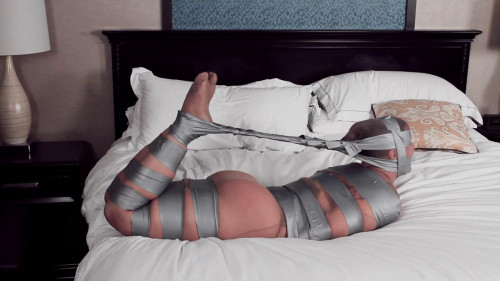 Fayth on Fire Tape Tied, Pantyhose Encased and Mummified! (2017)