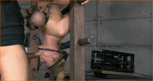 Blond bimbo Darling Brutal deepthroat, Massive Orgasms