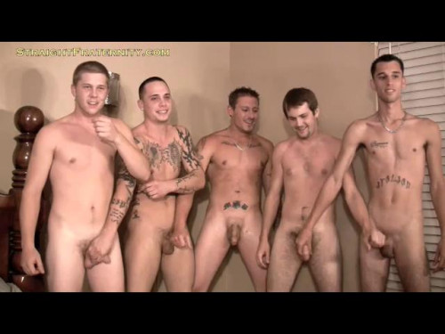 Straight Fraternity - 5 Man Cum Fest Gay Extreme