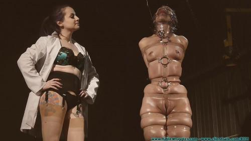 Hard bondage, spanking, hogtie and strappado for hot girl part 3 Full HD