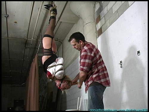 Crystal Frost Hung, spun, spanked, Crotchroped, tit slapped, and hairtied BDSM