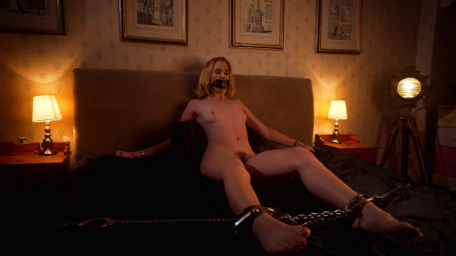 Super tying and domination for very lewd stripped golden-haired HD 1080p