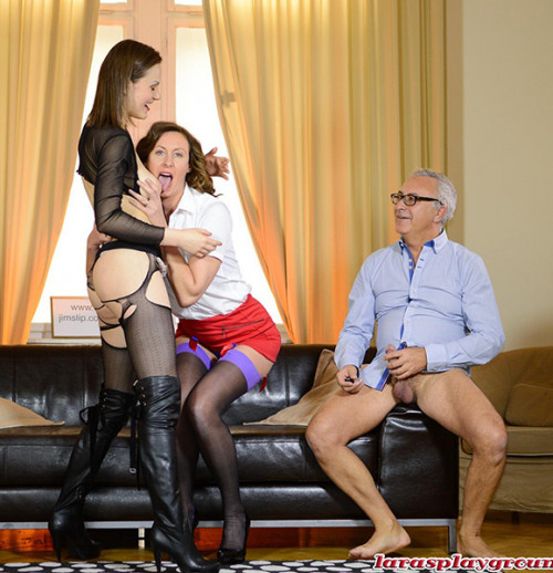 Tina Kay, Lara Latex - Ripped Tights and Stockings FuckFest (2014)
