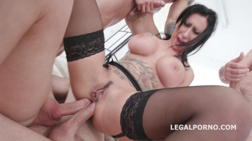 Busty Slut Lily Lane Gangbanged With DP & DAP Sex Orgy