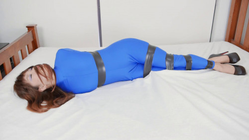 Her legs are tied together BDSM