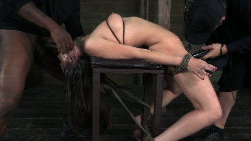 Casey Calvert Gets Bound Manhandled Worked Over By 2 Big Dicks BDSM