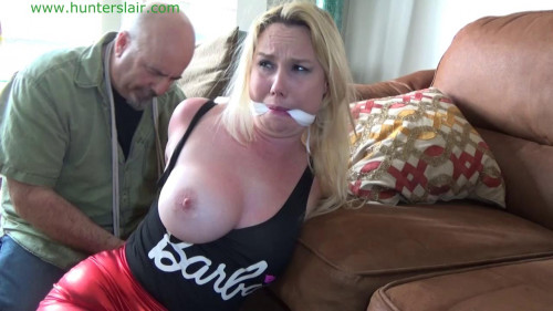 HunterSlair - Lylah Ryder - Busty blond boundage Barbie hogtied