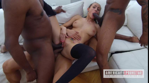 19 Year Old Nicole Love Loves Double Anal Interracial