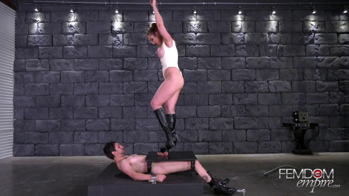 Yasmin Scott - Crushed Manhood Femdom and Strapon