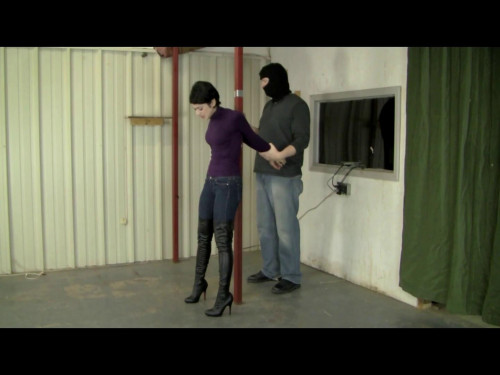Johannie - Tape Tied Booted Babe BDSM
