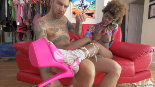 Ebony Daizy Manhandled To Squirting Interracial