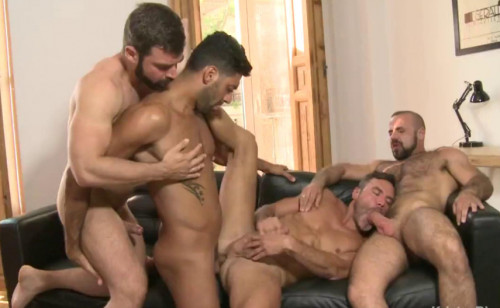 Raw Gangbang Party With Sexy Men