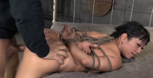 Big Titted Asain Is Bound Brutally Face Fucked