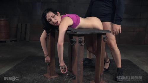 Aria Alexanders show continues handcuffed rough sex punishing deepthroat! (2015)