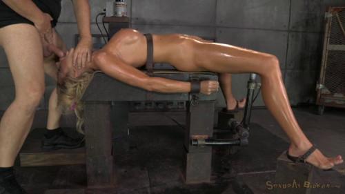 Courtney Taylor Bound Onto Fucking Machine, Pounded Hard With Brutal Deepthroat! BDSM