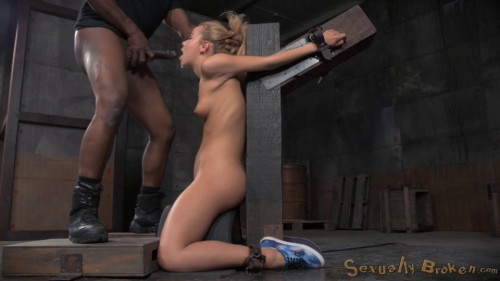 Adorable Cutie Alina West Strappado Bound To Sybain And Throat Trained BDSM