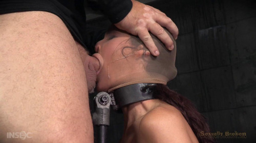 Big breasted sexy Syren de Mer in relentless live action bound