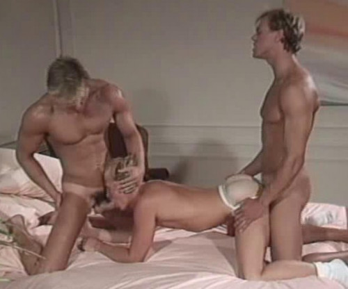 Blonde musclestuds in anal collection Gay Retro