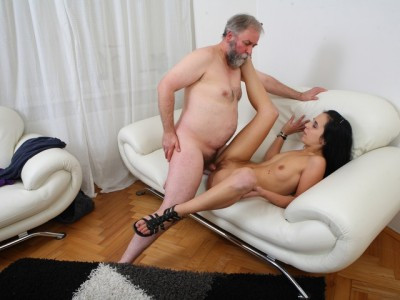 Tracy can't believe her luck when the old guy decides he wants to fuck her Old and Young