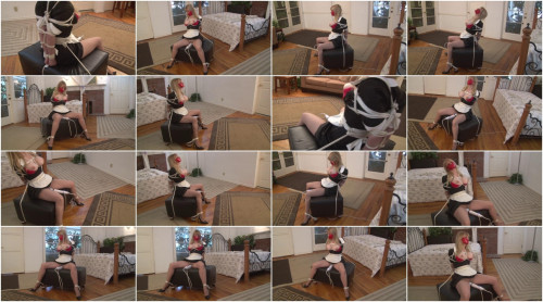 Bound and Gagged – Elbow-Bondage and Vibrator Orgasm for Roped Maid Lorelei