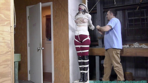 FutileStruggles - Rachel Crotchroped And Post Tied BDSM