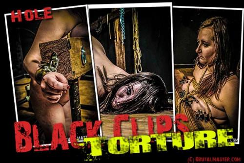 BrutalMaster - Hole - Black Clips Torture