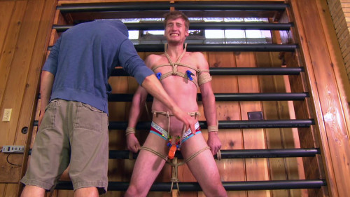 Roped twink tortured with movie scenes Nathan vol. 6